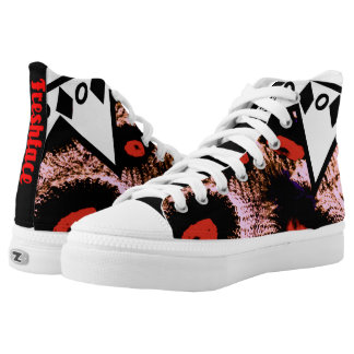 POW WoW KIks Printed Shoes