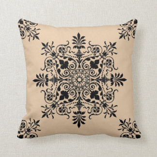 Powell Buff Victorian Floral Decorative Throw Throw Pillows