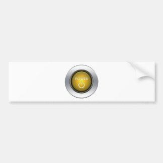 Power Button Bumper Sticker