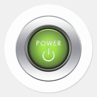 Power Button Sticker