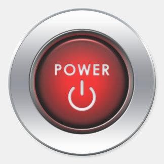 Power Button Round Sticker