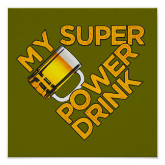 Power Drink custom poster