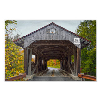 Power House Covered Bridge, Vermont Poster