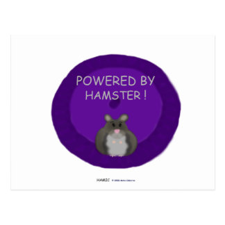 Powered By Hamster winter white Post Card