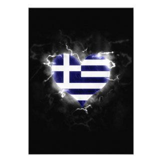 Powerful Greece 13 Cm X 18 Cm Invitation Card