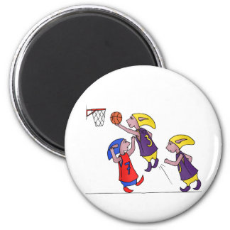 PoZ basketball players 6 Cm Round Magnet