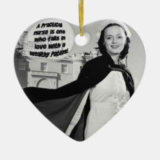 PRACTICAL NURSE FALLS IN LOVE W/ WEALTHY PATIENT CERAMIC HEART DECORATION