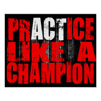 Practice like a champion Poster MMA BJJ Fitness