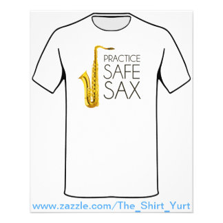 Practice Safe Sax Flyer