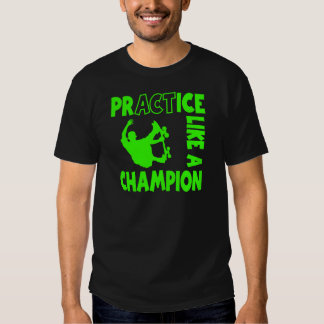 Practice Skateboard, neon green T-shirt