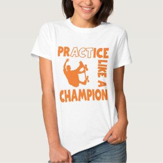 Practice Skateboard, orange Shirt