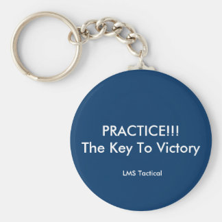 PRACTICE!!!The Key To Victory, LMS Tactical Basic Round Button Key Ring