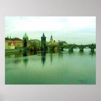 Prague 1 City Bridge Poster 2000 The MUSEUM Zazzle