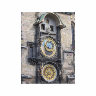 Prague Astronomical Clock In The Old Town Square Cut Outs