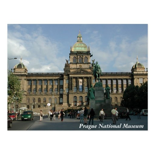 Prague National Museum Postcard