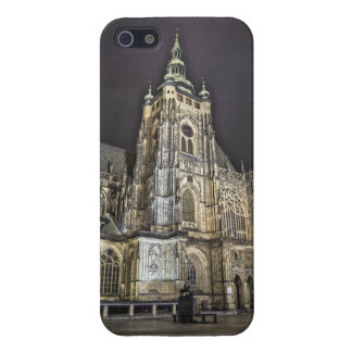 Prague St.Vitus Cathedral Main Tower Night Cover For iPhone 5/5S