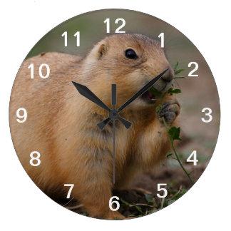 prairie dog large clock