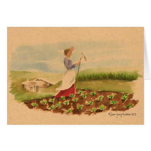 Prairie Woman Greeting Card
