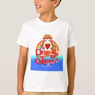 pray for JAPAN 2 Kids-T w/Love T-Shirt