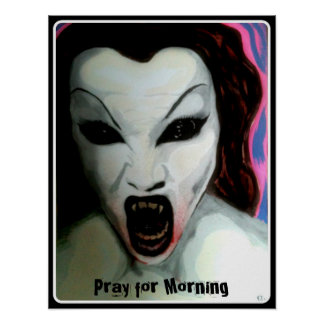 'Pray for Morning' on a Poster Print