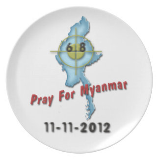 Pray For Myanmar Plate