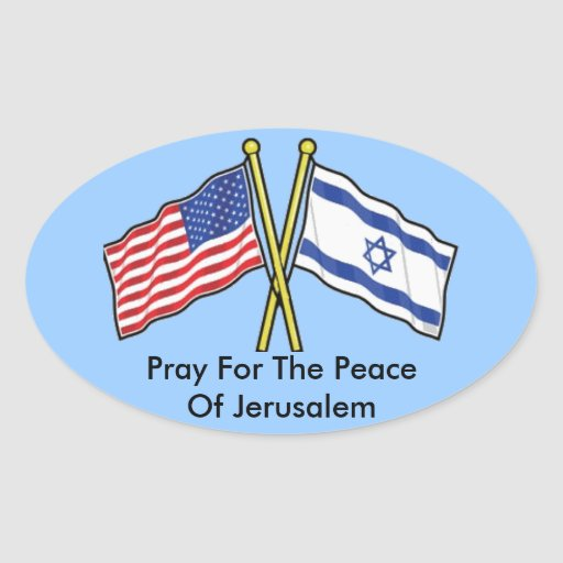 Pray For The Peace Of Jerusalem Stickers