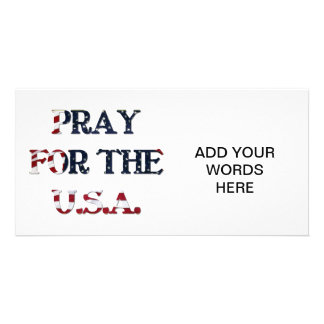 Pray for the U.S.A. Customized Photo Card