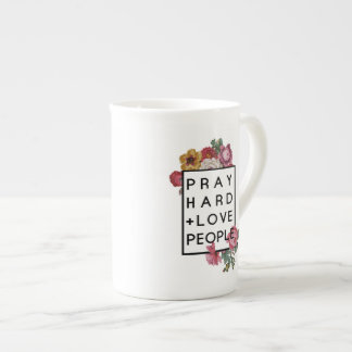 Pray Hard and Love People Inspirational Coffee Mug