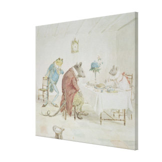 Pray, Miss Mouse, will you give us some beer' Canvas Print