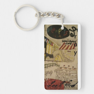 Pray/seek God/Memphis keychain art
