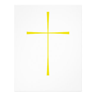 Prayer Book Cross Gold Flyer Design