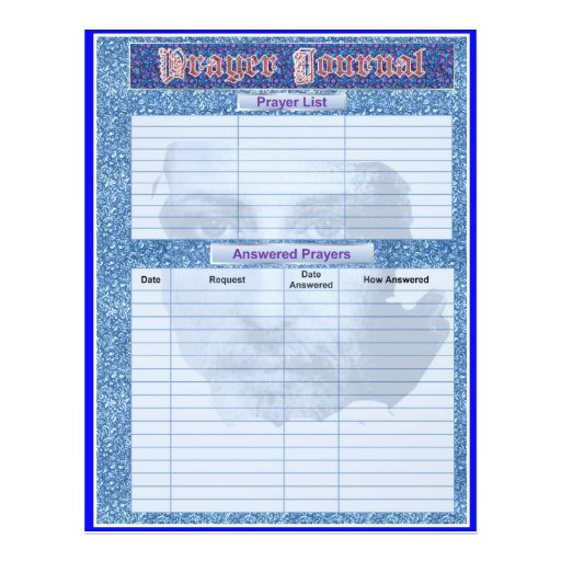 PRAYER JOURNAL PAGES Album / Binder Insert Pages Flyers