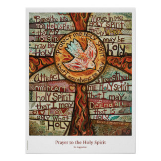 Prayer to the Holy Spirit classroom poster