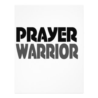 prayer warrior 21.5 cm x 28 cm flyer