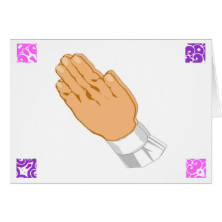 Praying Hands Happy Easter Greeting Card