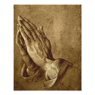 Praying Hands Poster