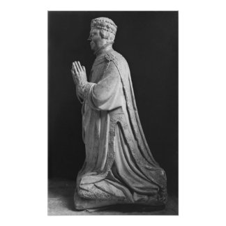 Praying kneeling figure of Duc Jean de Berry Poster