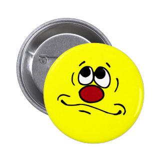 Praying Smiley Face Grumpey 6 Cm Round Badge
