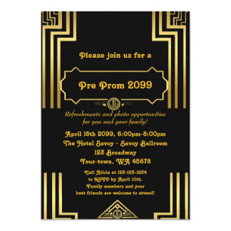 Pre-Prom invitation, Pre Prom, Quinceanera,Sixteen 13 Cm X 18 Cm Invitation Card