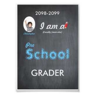 Pre School photo,low price,Chalkboard,frame it Photo