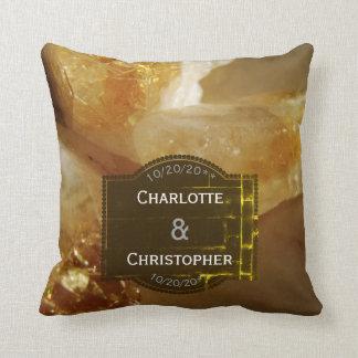 Precious Gemstones Photo Personalized Wedding Cushion