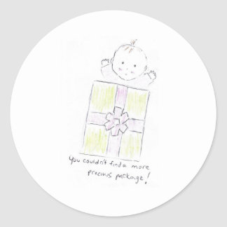 Precious package classic round sticker
