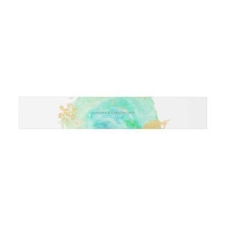 Precious Watercolor Envelope Belly band Invitation Belly Band
