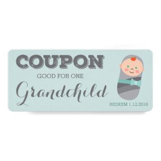Pregnancy Announcement Coupon for Grandchild