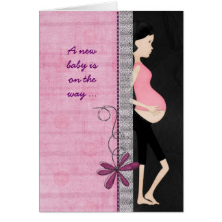 Pregnancy Announcement Greeting Card