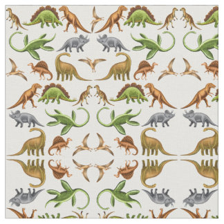 Prehistoric Dinosaur Paleo Light Fabric