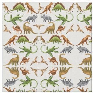 Prehistoric Dinosaur Paleo Light Fabric