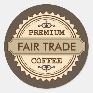 Premium Fair Trade Vintage style business sticker