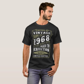 Premium Vintage 1968 Star Born Aged To Perfection T-Shirt