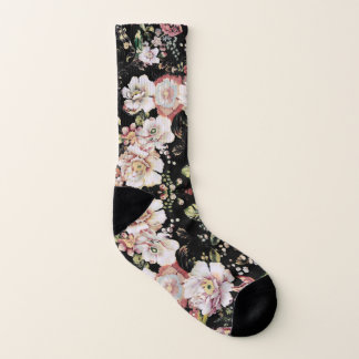 Preppy bohemian country shabby chic black floral 1